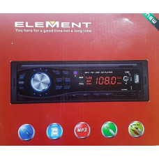 ELEMENT AUTORADIO 1DIN MP3 USB SD KARTY
