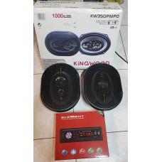Autorádio s MP3 Element a 4 pásmové reproduktory Kingswood 16x24cm oválné 1000W v sadě