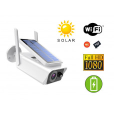 Bezdrátová wifi smart ip inteligentní kamera VENKOVNI se solárním panelem
